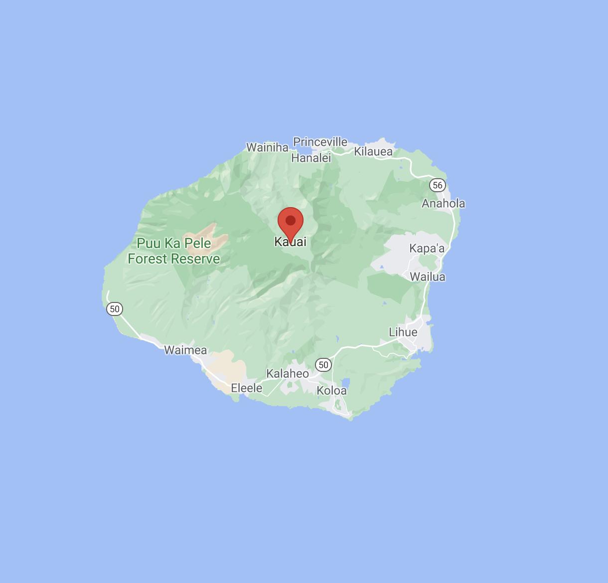 Kauai-Map